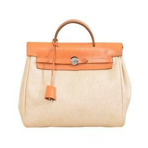 HERMES Her Bag ADO PM Ivory Natural Backpack Ruck